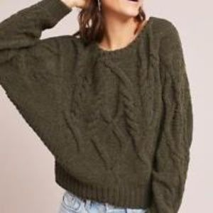 Anthropologie Cabled Pullover